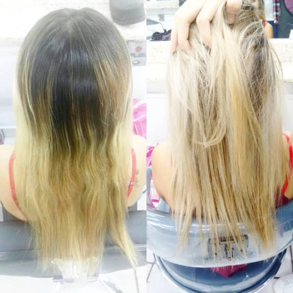 Luzes feita na touca  dando ênfase somente na raiz  cabelo cabeleireiro(a) auxiliar cabeleireiro(a)