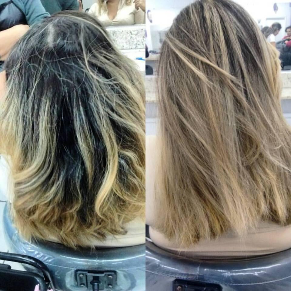 Luzes feita na touca cabelo cabeleireiro(a) auxiliar cabeleireiro(a)