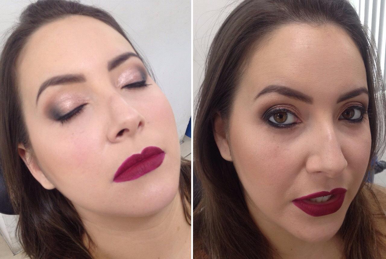 Maquiagem com a técnica esfumado na diagonal. Olho simples com boca vibrante - Instagram @geisamedeirosmakeup #MakeUp #InstaMake #Maquiagem #MaquiagemDeFesta #MaquiagemProfissional #MaquiagemSocial #GeisaMedeirosMakeUp #MaquiagemNoiva #PPF #PausaParaFeminices #Vult #VultCosmética #Bitarra #MaryKay #RubyRose #Luisance #Dailus #QuemDisseBerenice #Contém1g #Morphe #PincéisMacrilan #LuFerraes #Mac maquiagem maquiador(a) designer de sobrancelhas