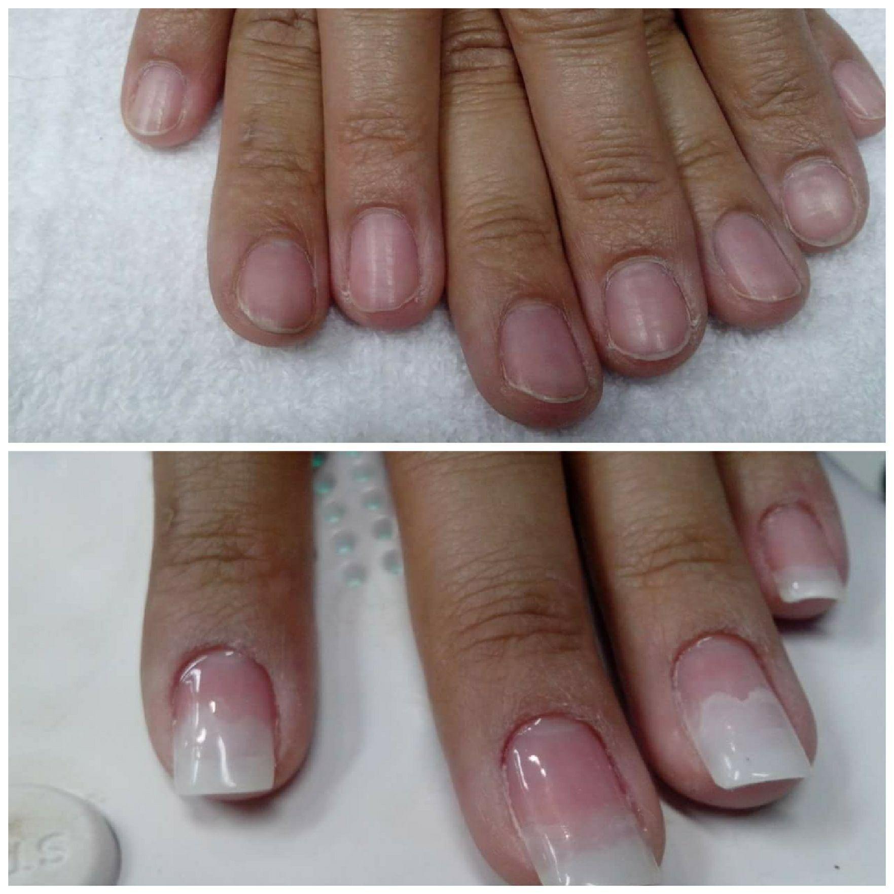 Unha de gel unha manicure e pedicure