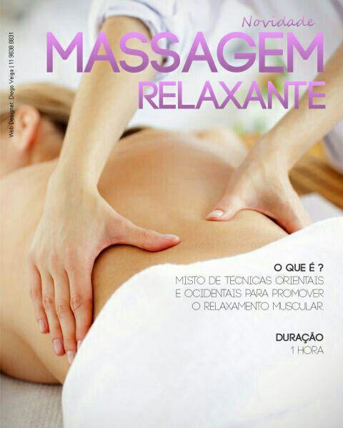 Massagem Relaxante ativa circulação sanguínea, ótima contra o estresse e fadiga muscular . estética esteticista