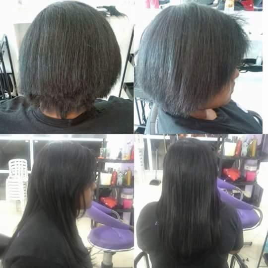 Mega hair de queratina cabelo auxiliar cabeleireiro(a)