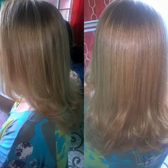 corte + prancha cabelo auxiliar cabeleireiro(a)