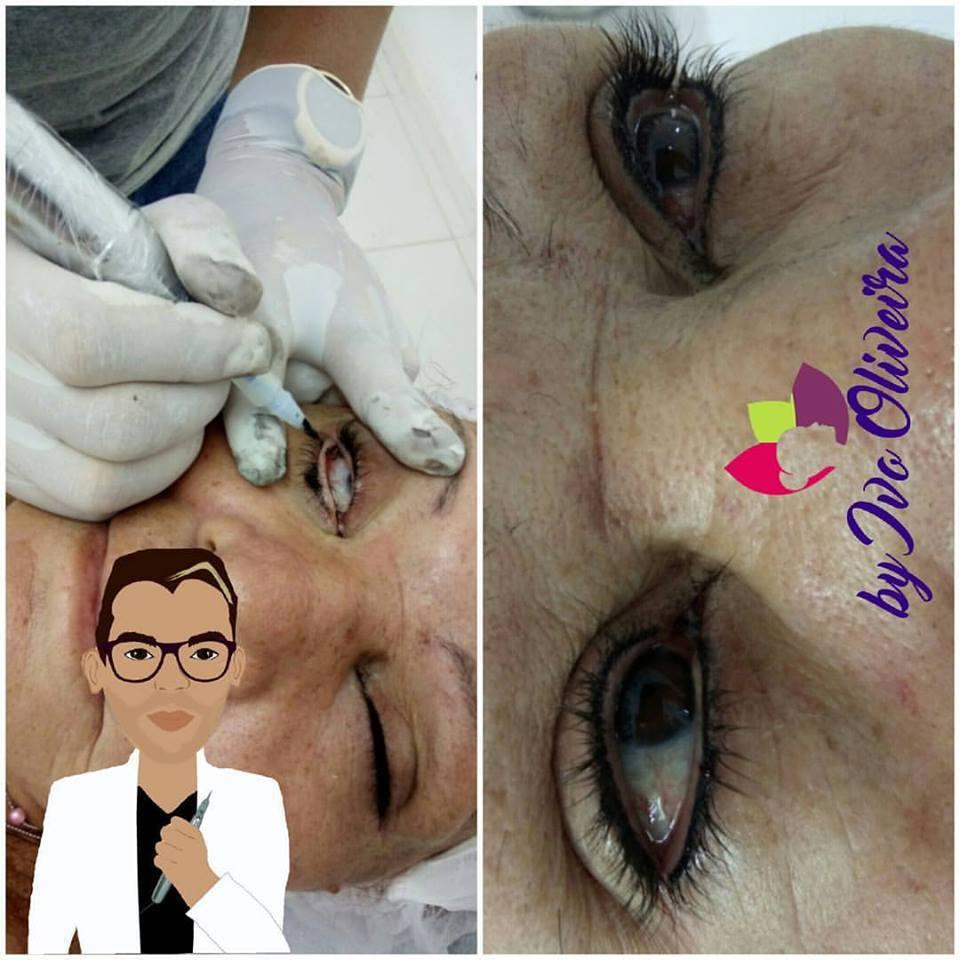 Contorno do Olho maquiagem cabeleireiro(a) escovista dermopigmentador(a) designer de sobrancelhas maquiador(a) micropigmentador(a)
