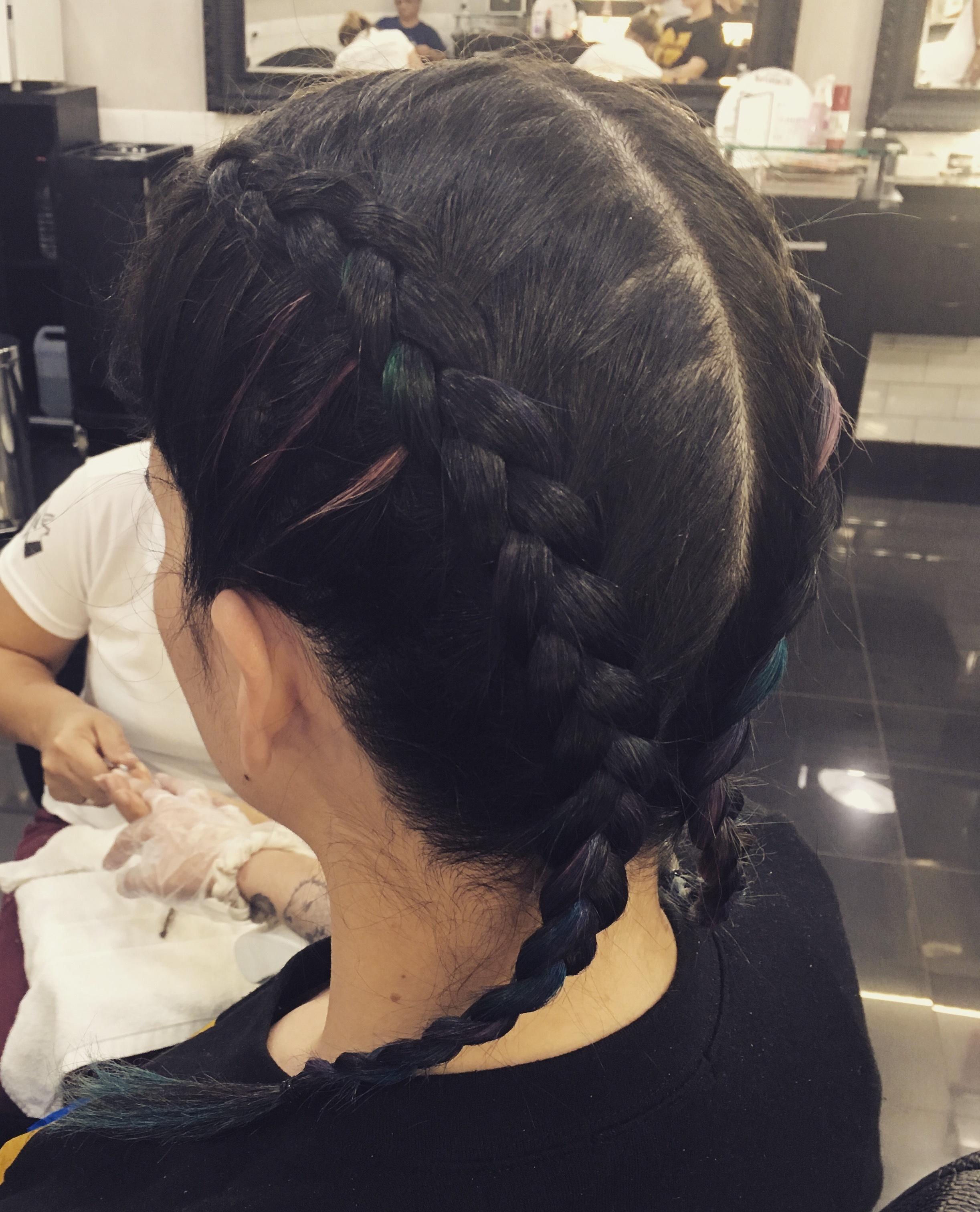 Trança boxeadora cabelo cabeleireiro(a) maquiador(a)