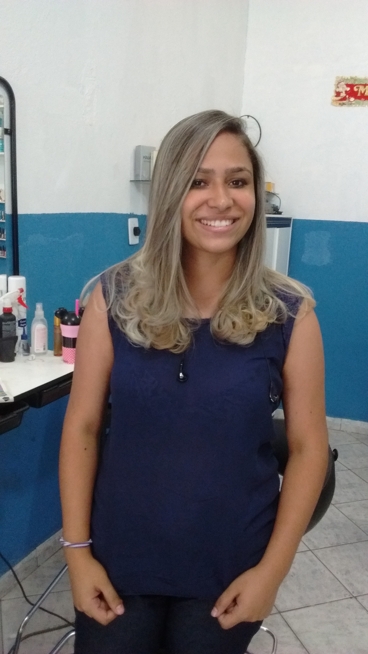 Ombré Hair com técnica de iluminação e visagismo cabelo cabeleireiro(a)