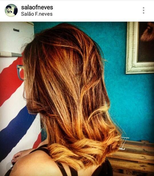 Corte feminino + ombrehair cabelo cabeleireiro(a) barbeiro(a)
