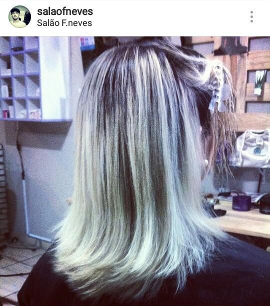 Luzes no papel cabelo cabeleireiro(a) barbeiro(a)