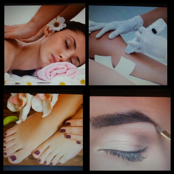 Massagem relaxante Depilação Design Sobrancelhas Manicure / Pedicure  estética