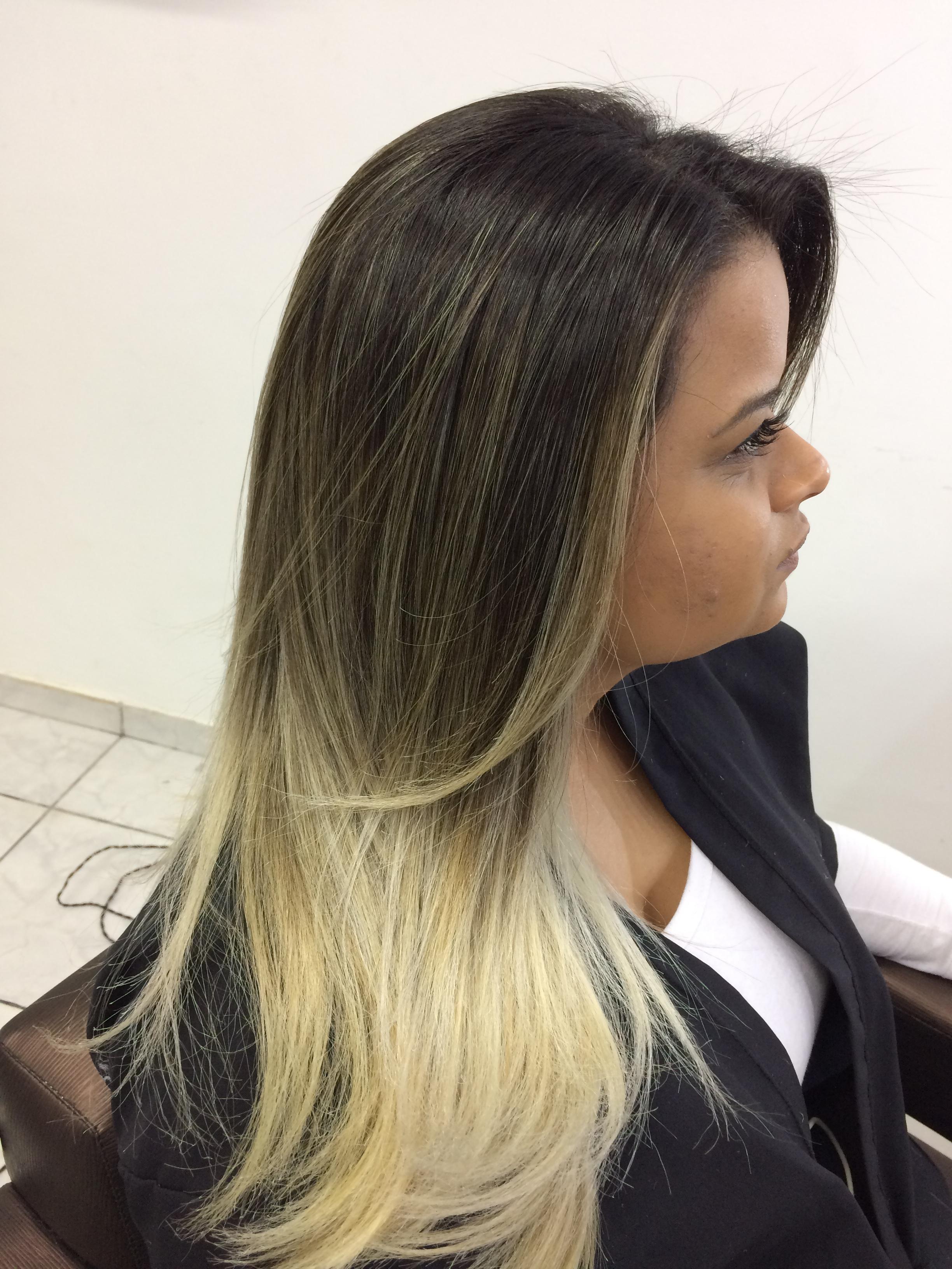Trabalho de ombre hair + hair contour cabelo auxiliar cabeleireiro(a)