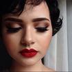 Ensaio pinup :) #make-up #pinup #batomvermelho #delineado