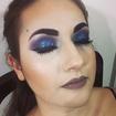 Make pra aniversário na balada ;) #makeup #glitterroxo #delineador #nudeacinzentado #olhomarcante