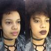 Antes e depois :) preparação para pele negra! #antesedepois #pelenegra #maquiagemnatural #batomescuro