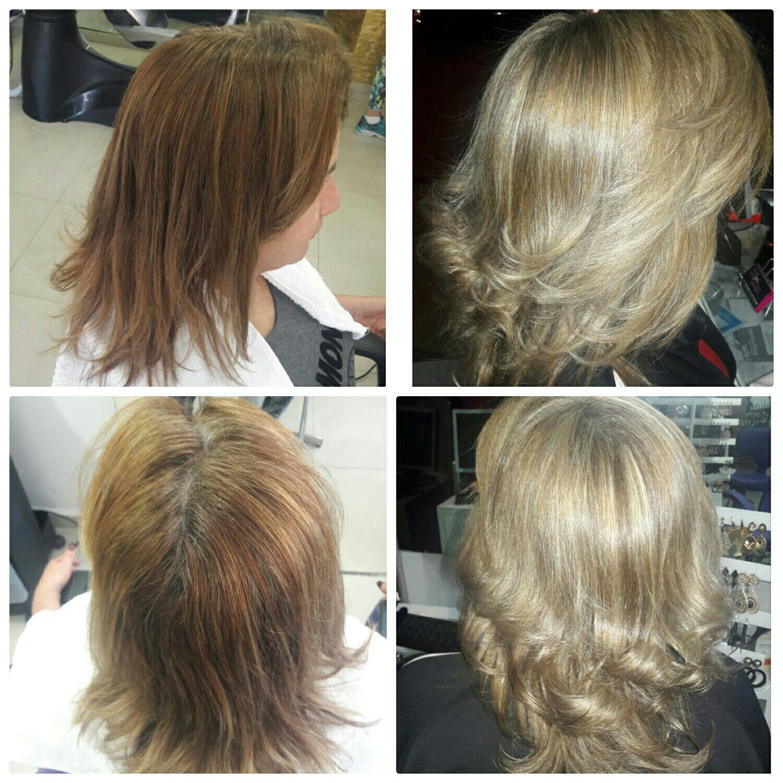 Visual Monocromático (técnica que deixa o minimo de raiz natural) Tonalidade Loiro Manteiga. cabeleireiro(a) maquiador(a)