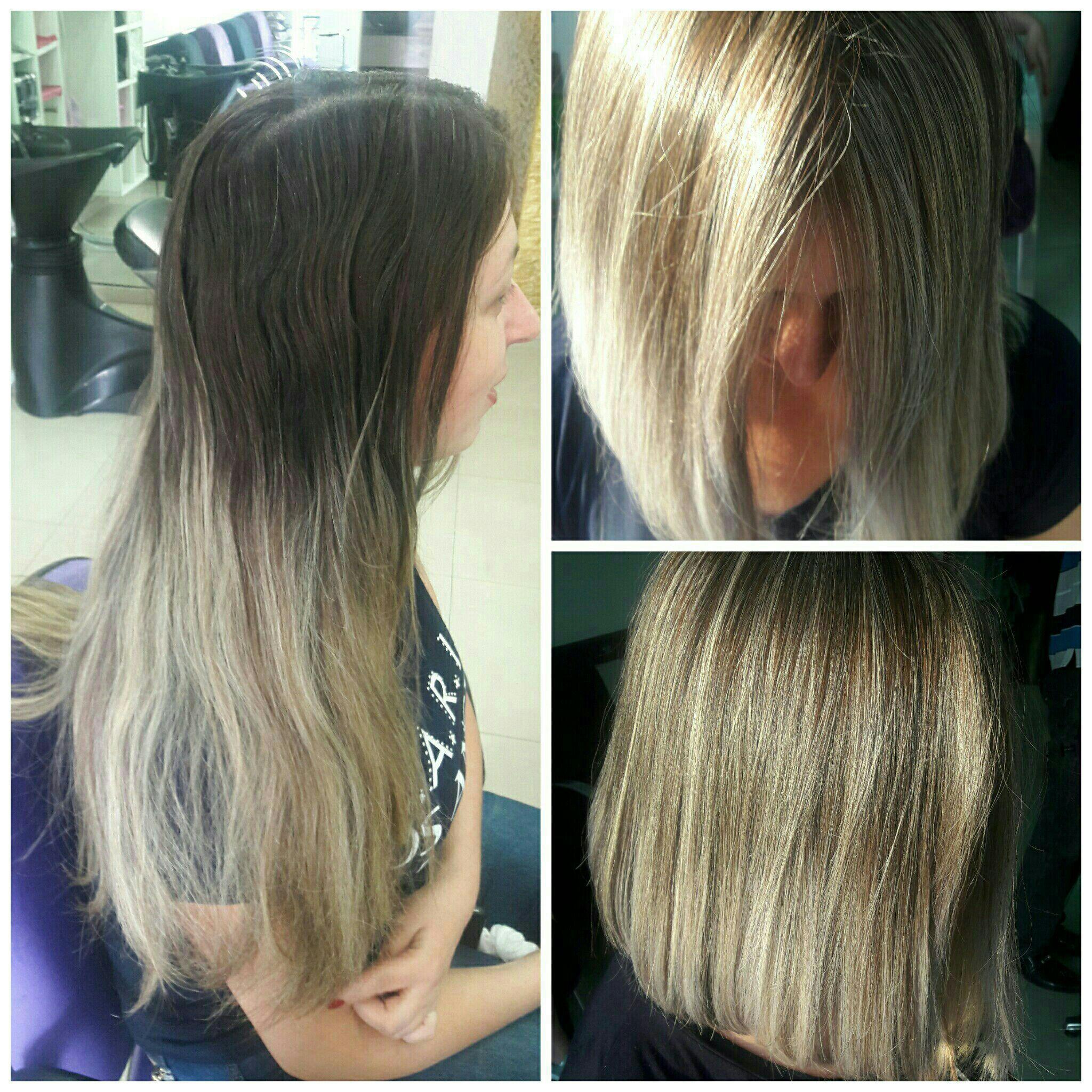 Short Bob e luzes Loiro manteiga perolado cabeleireiro(a) maquiador(a)