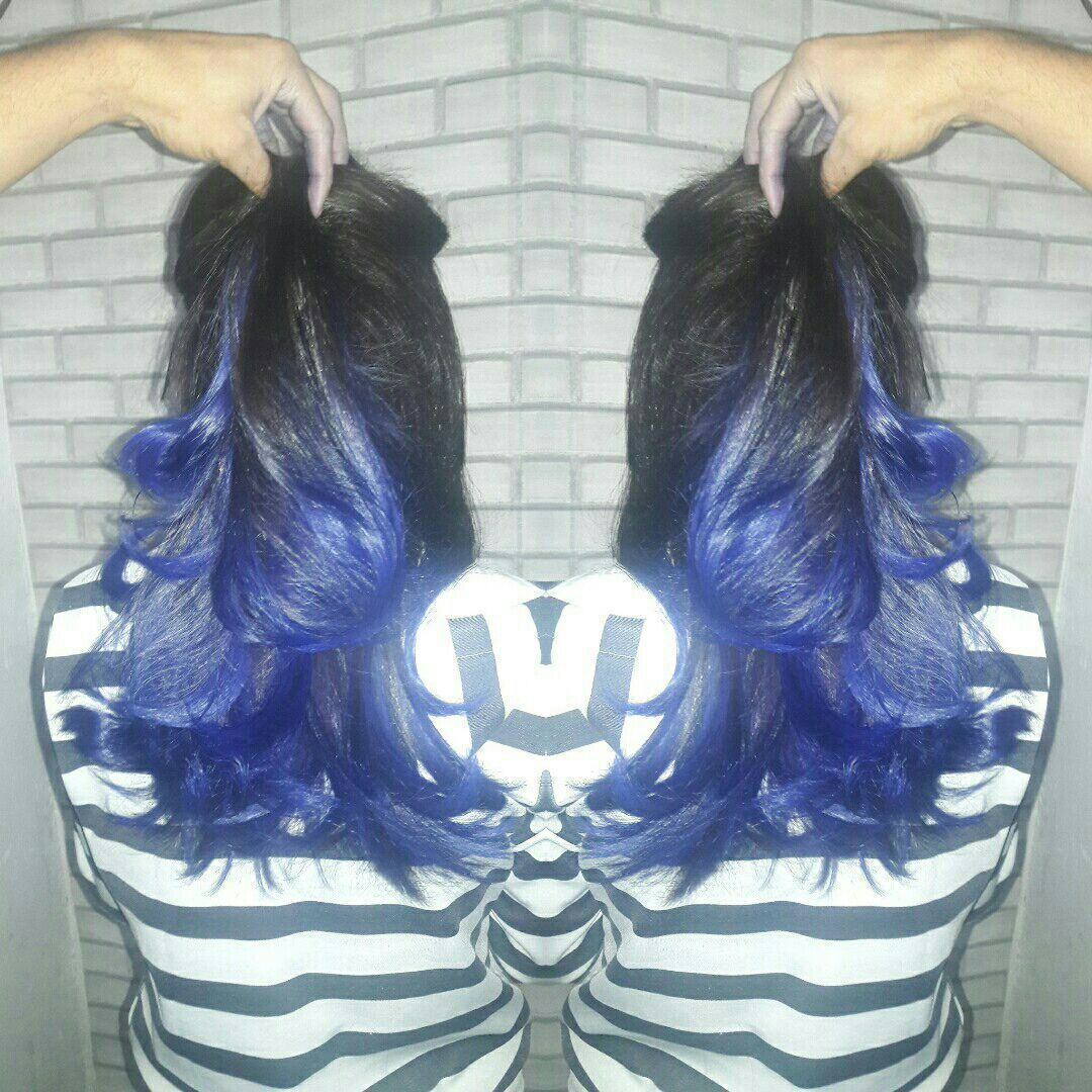 Ombré hair Blue cabeleireiro(a) maquiador(a)