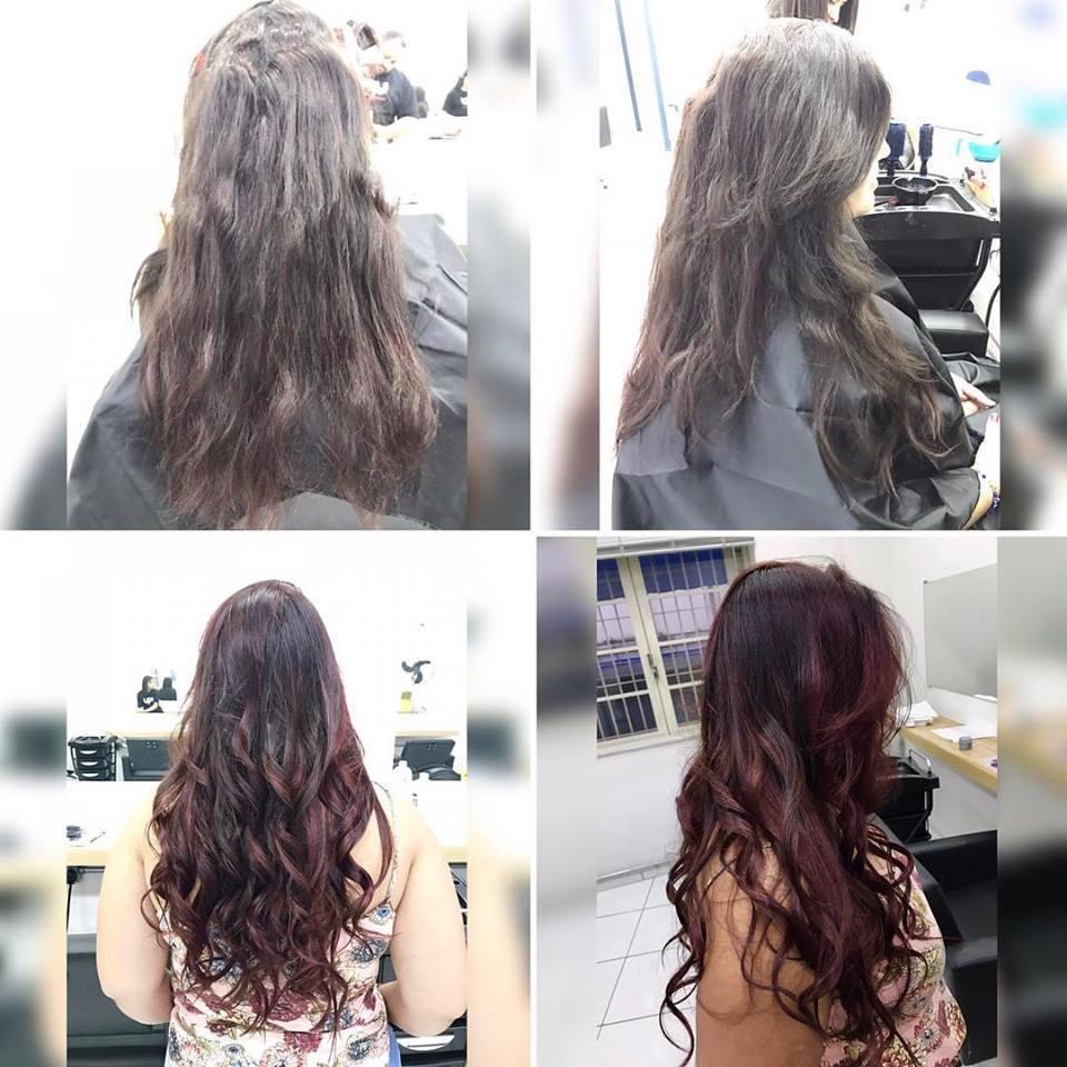 Ombre Hair Red. cabelo auxiliar cabeleireiro(a) dermopigmentador(a) micropigmentador(a) estudante (designer sobrancelha) cabeleireiro(a)