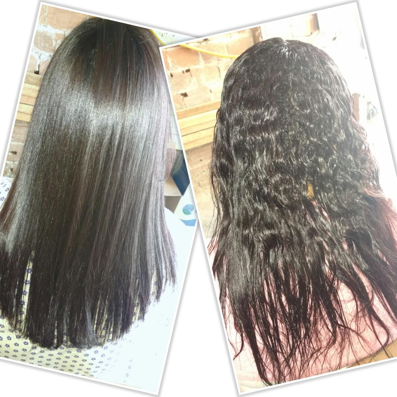 Alisamento antes e. Depois  cabelo cabeleireiro(a)