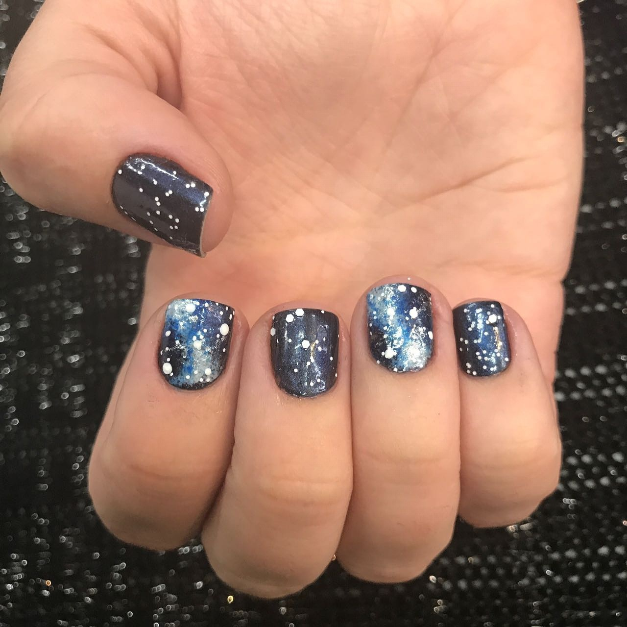 Galaxy Nail! #nails #diva #luxury #myjob #unhas #universofeminino #beleza #loucasporesmaltes #lovenailart #nails #nailsart #unhasdecoradas #unhas #unhasdediva #myjob #manicure #naildesign #lovenails #unhasgalaxia #galaxynails #unhas #crazynails unha manicure e pedicure
