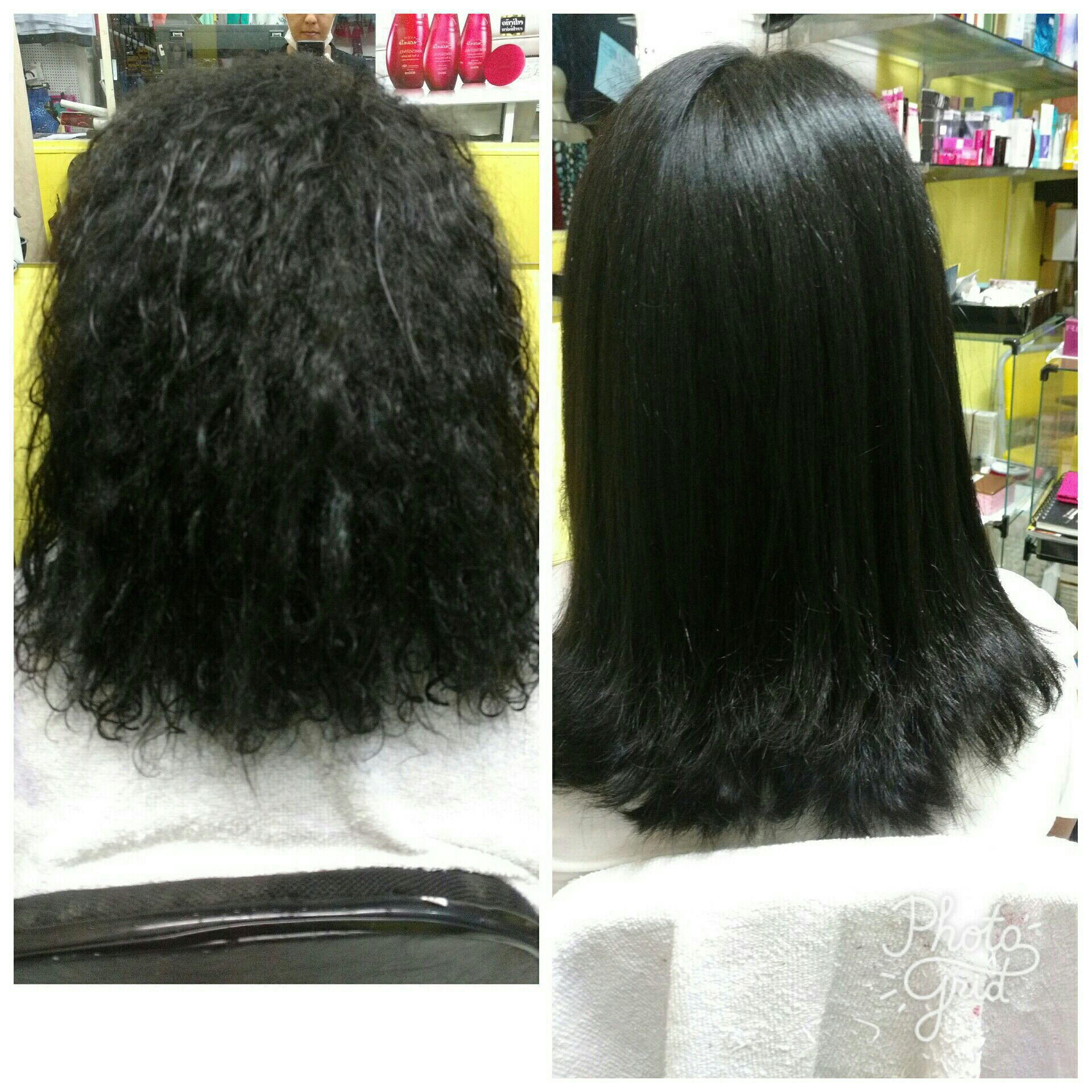 Aqui foi feito uma progressiva + corte produtos progressiva Portier cabelo auxiliar cabeleireiro(a)