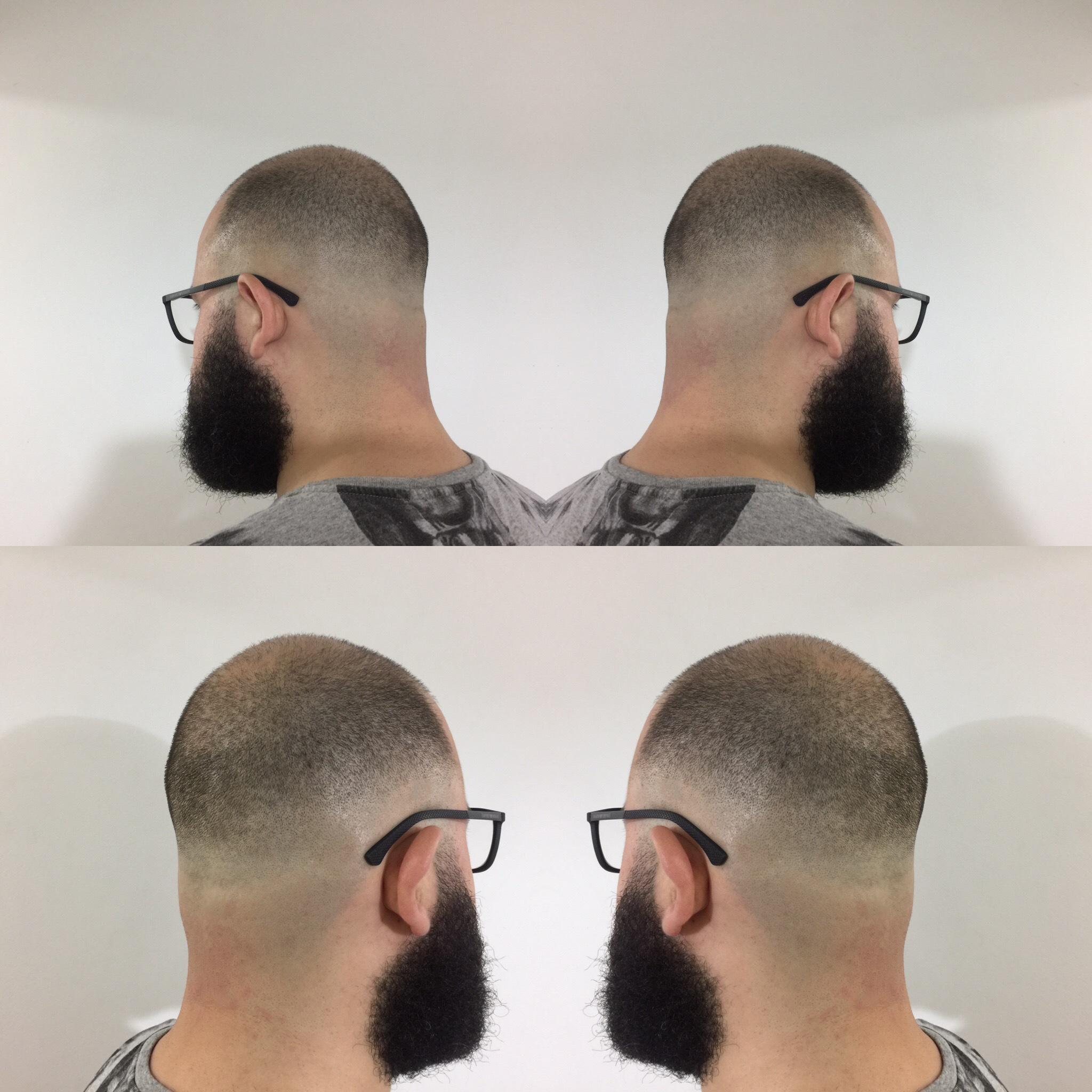 Zero na navalha cabelo barbeiro(a)