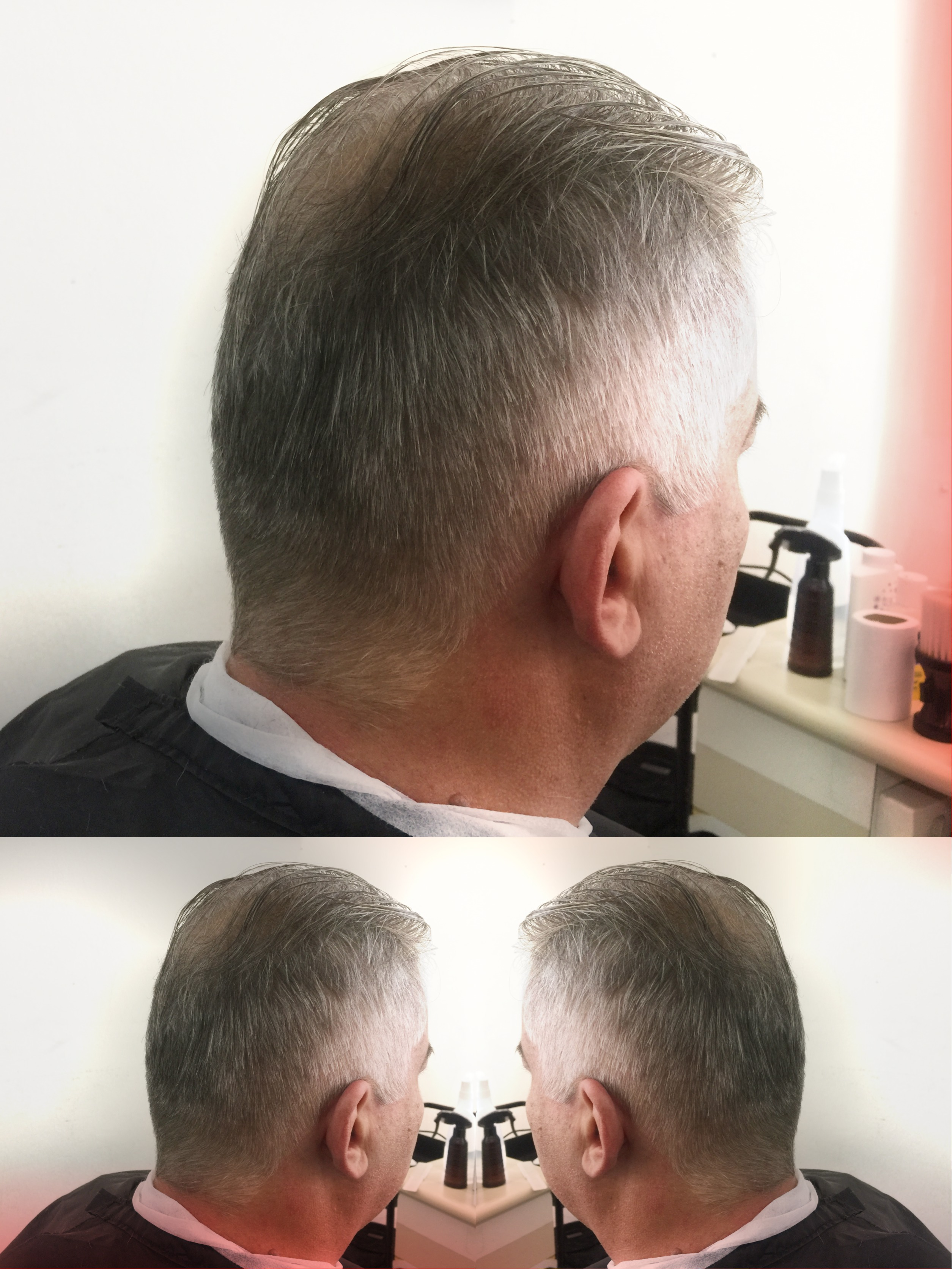 Grisalho cabelo barbeiro(a)
