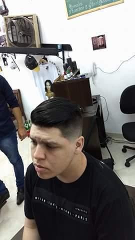 Depois do corte! (Primeira aula pratica) cabelo barbeiro(a)