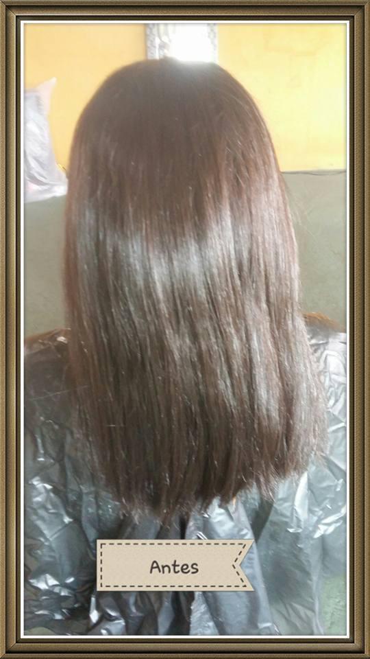 Antes de luzes, corte , hidratação e escova. cabelo auxiliar cabeleireiro(a)