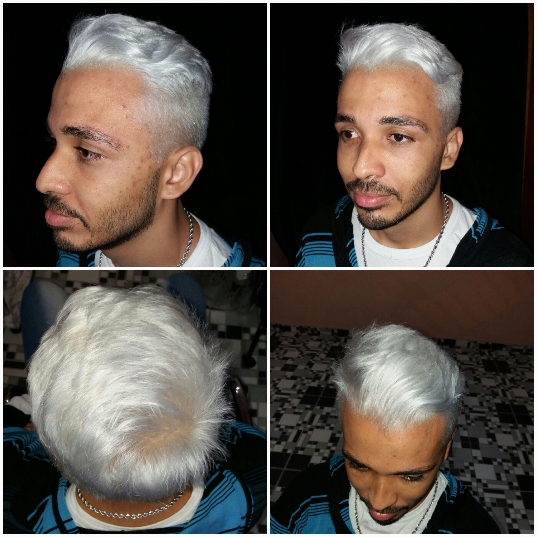 Coloraçao platinada cabelo