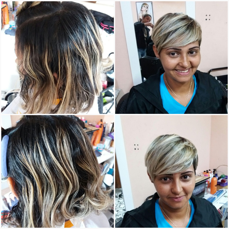 Corte curto feminino cabelo