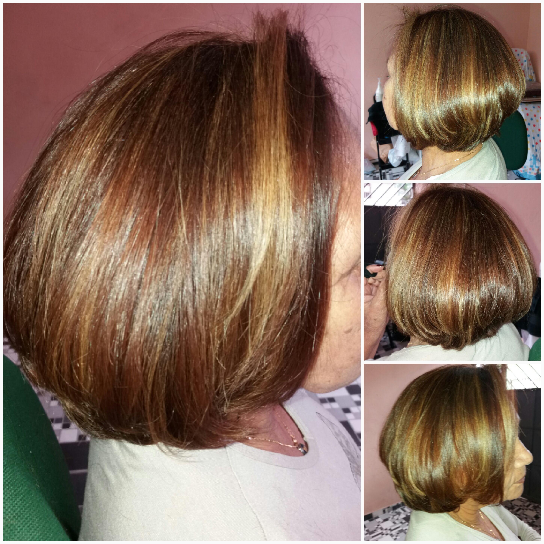 Cor, mechas e corte cabelo