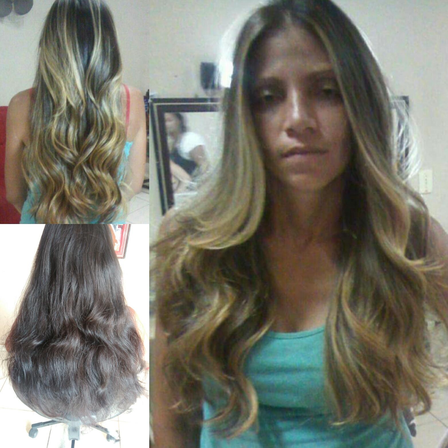 Corte , reflexo e escova  cabelo auxiliar cabeleireiro(a)