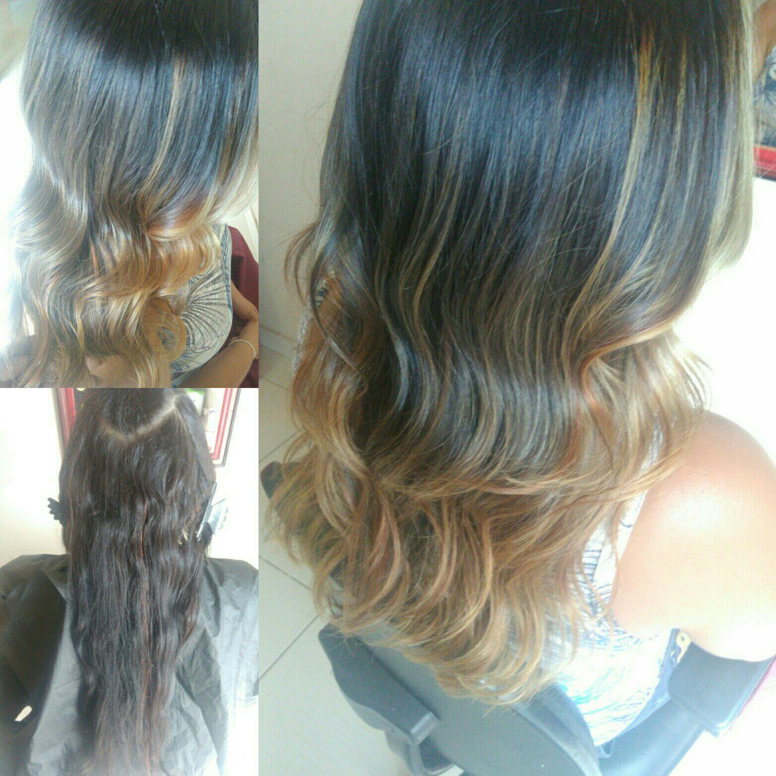 Reflexo, corte e escova modelada cabelo auxiliar cabeleireiro(a)