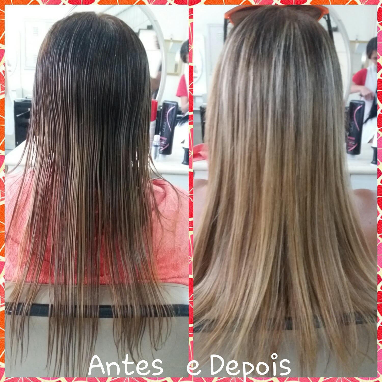 Corte e Escova...  #cabelo #hair #beleza #mulher #liso #luzes cabelo manicure e pedicure maquiador(a) cabeleireiro(a) auxiliar cabeleireiro(a) escovista