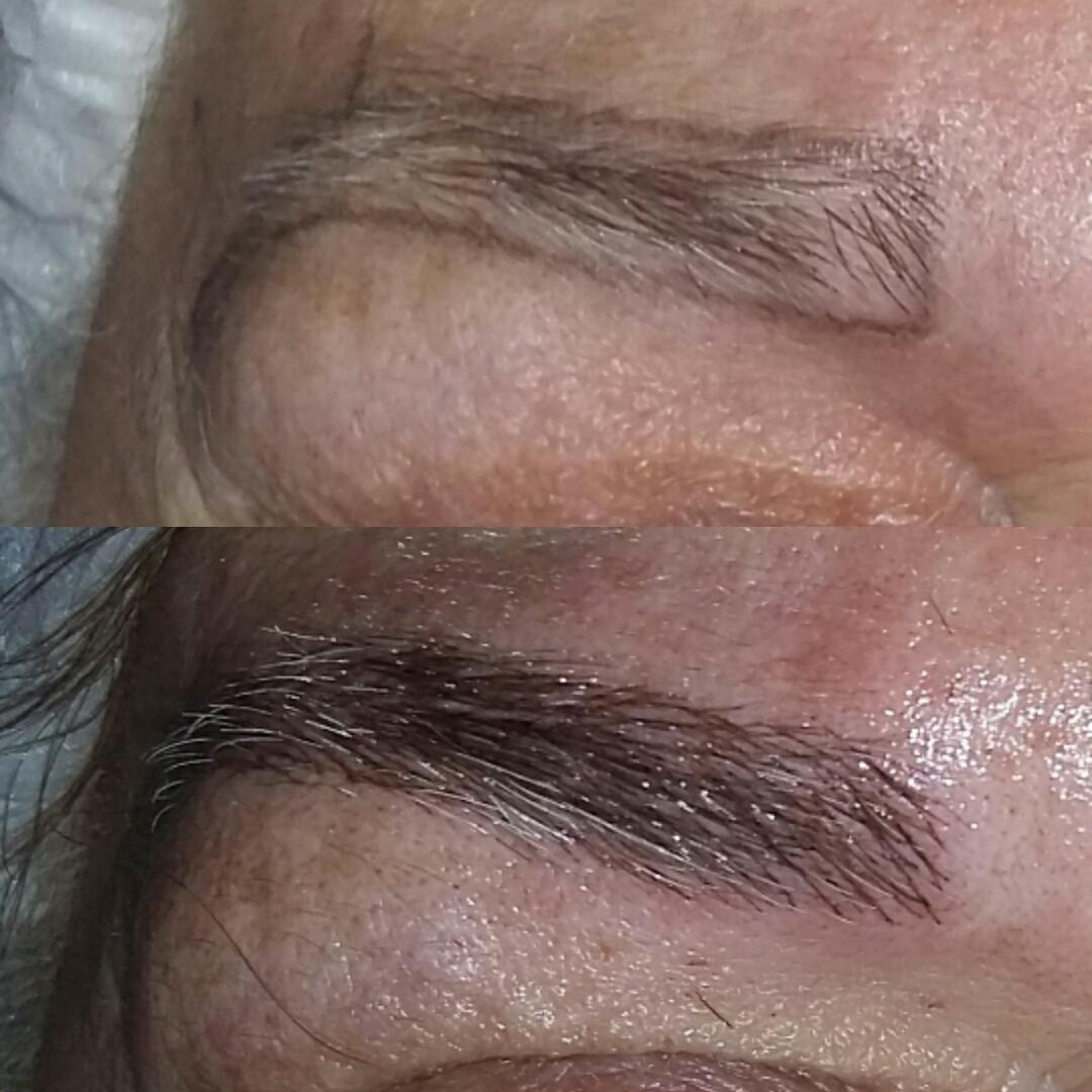 Microblanding #clientefeliz, #amooquefaço outros dermopigmentador(a) designer de sobrancelhas cabeleireiro(a) naturólogo(a)