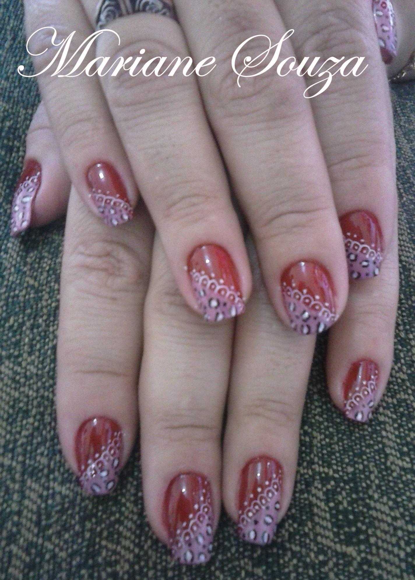 Decoração feita a mão :) unha manicure e pedicure maquiador(a) esteticista