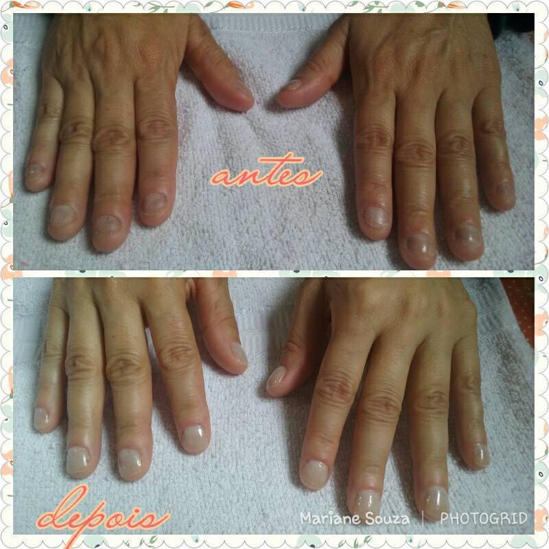 Reconstrução em Gel' =] unha manicure e pedicure maquiador(a) esteticista