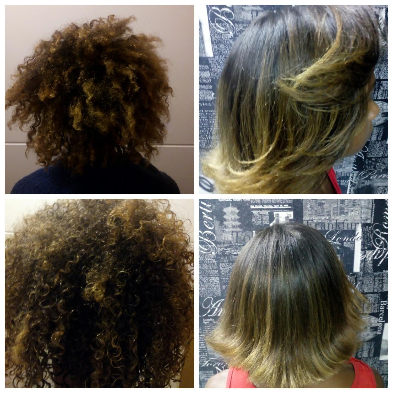 Foi feito  corte com a base a  0 grau com um leve movimento nas pontas e finalizado com uma escova modelada cabelo cabeleireiro(a)