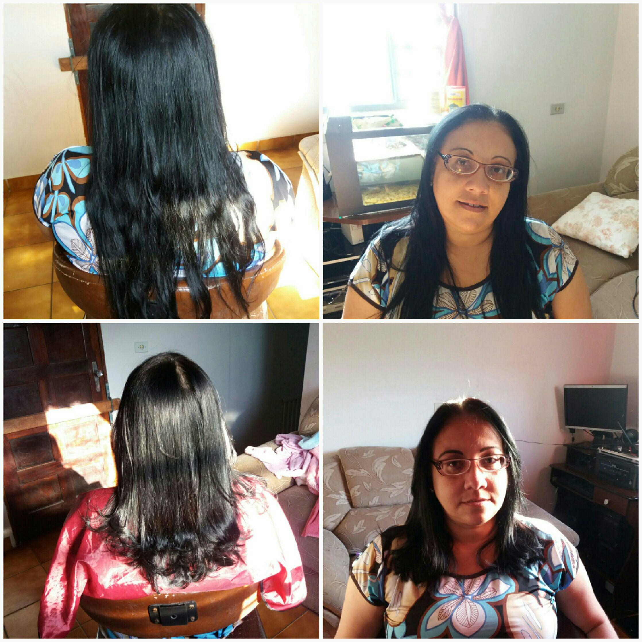 Corte. Antes e Depois cabelo cabeleireiro(a) designer de sobrancelhas micropigmentador(a)
