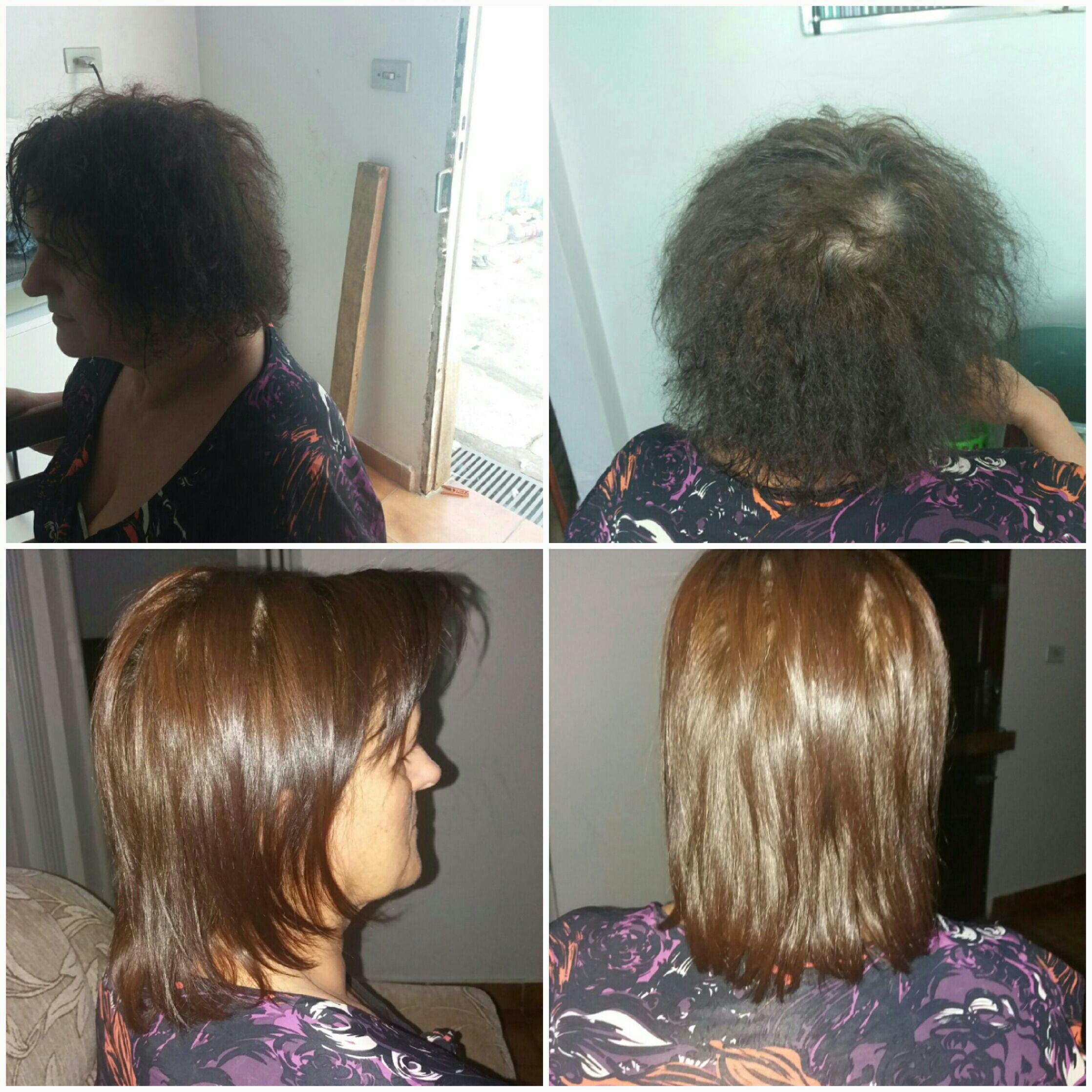 Progressiva.  Antes e Depois cabelo cabeleireiro(a) designer de sobrancelhas micropigmentador(a)