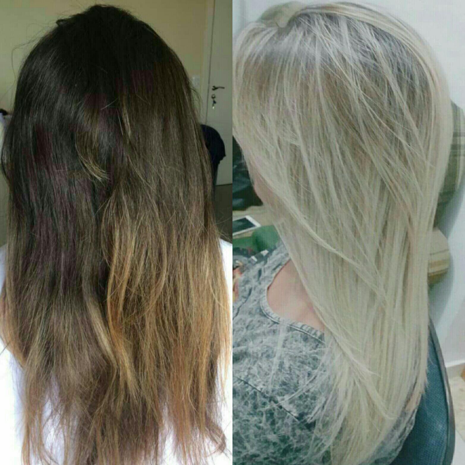 Mechas / correção de cor. cabelo cabeleireiro(a)