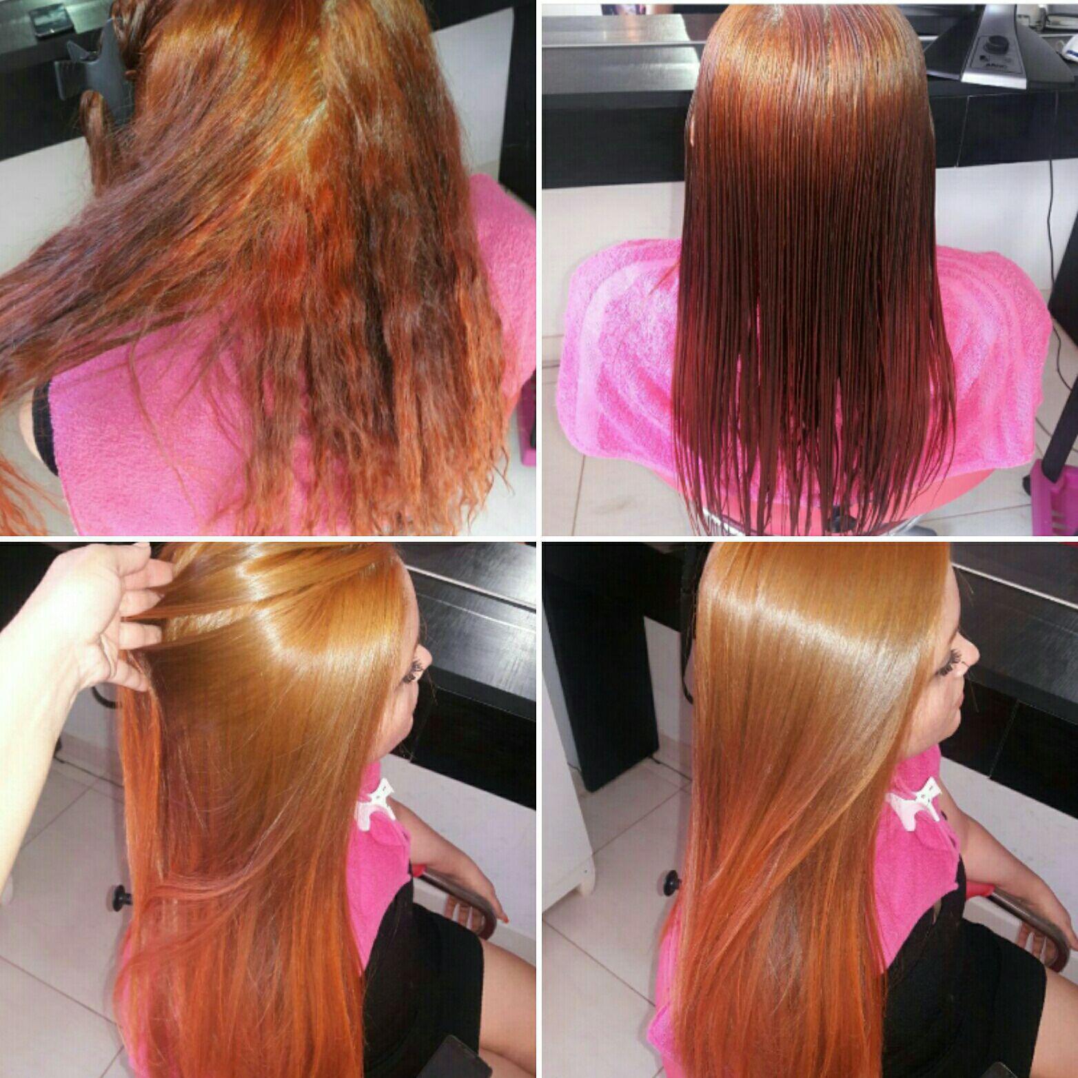 Escova Progressiva. cabelo cabeleireiro(a)