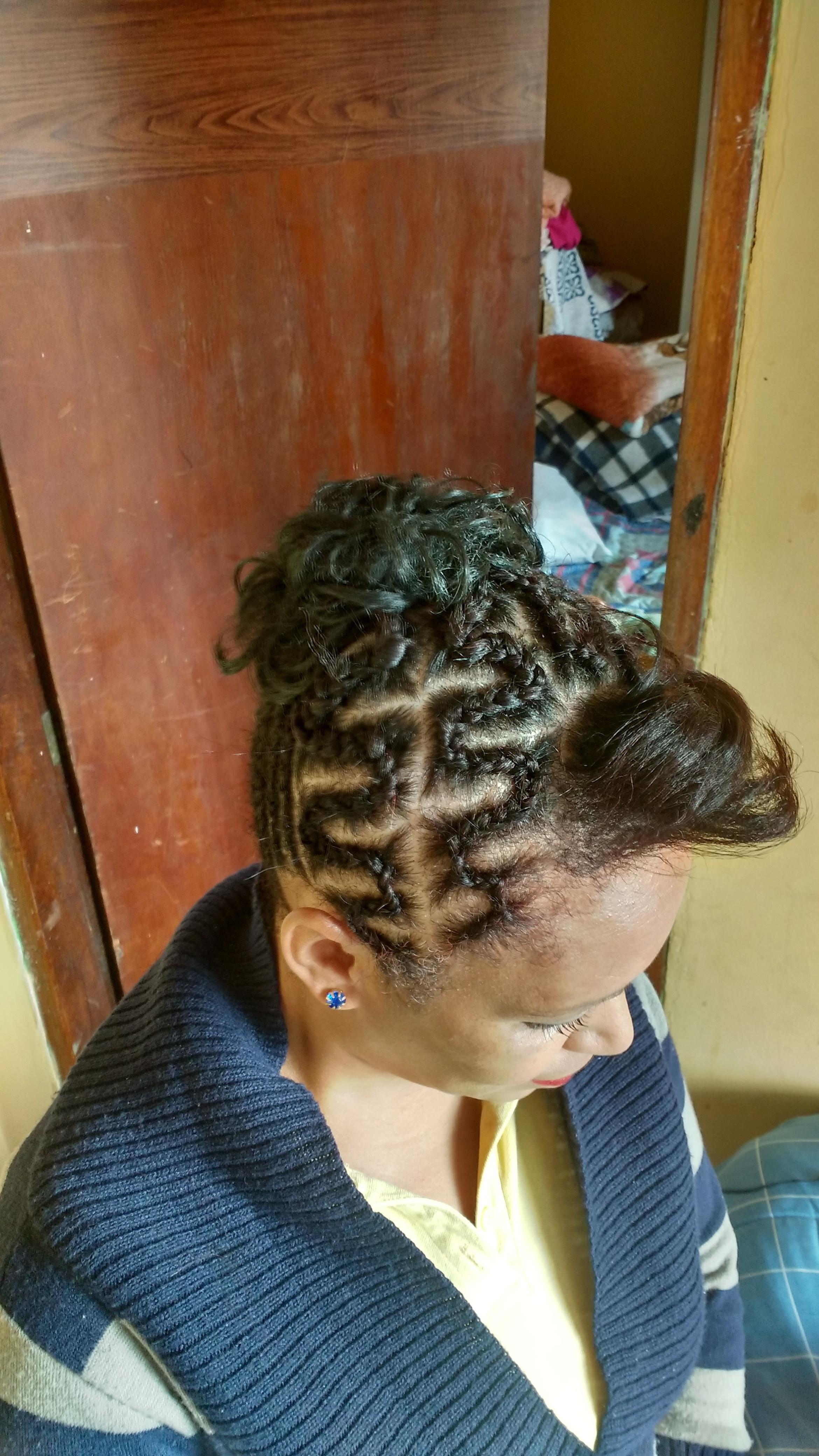 Trança enraizada cabelo