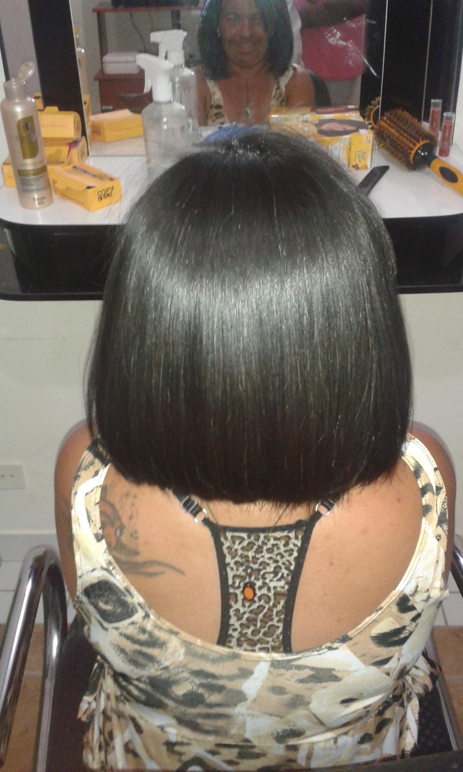 Corte chanel e progressiva. cabelo