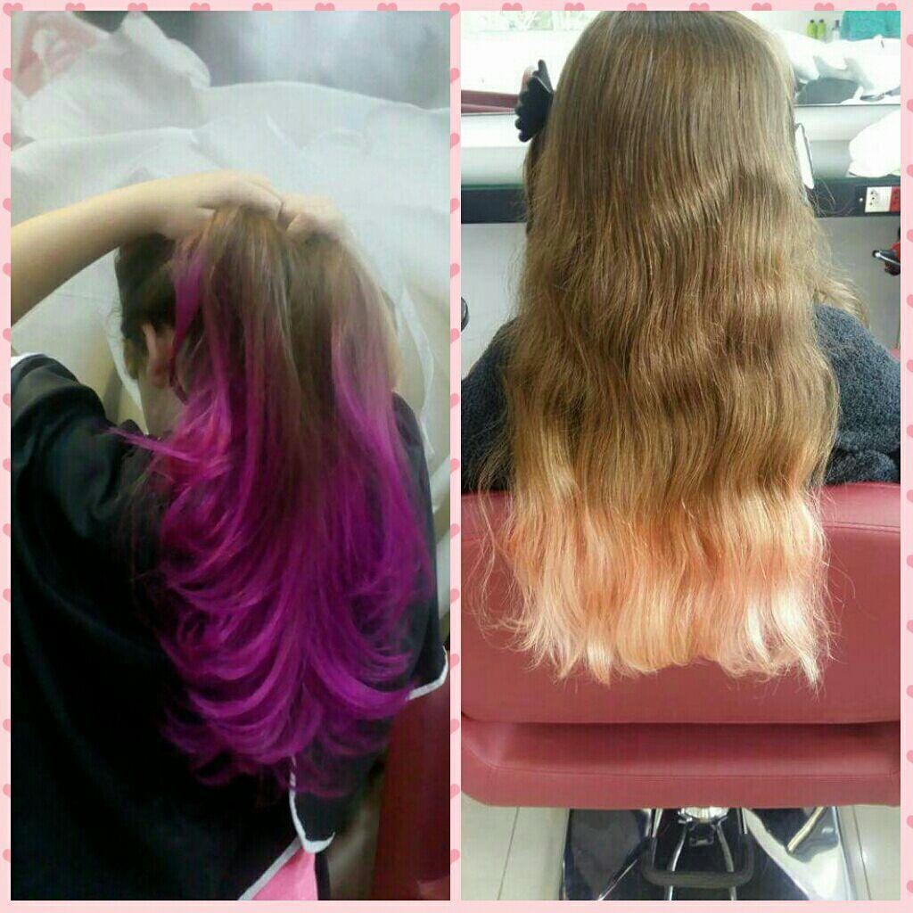 Ombre Pink cabeleireiro(a) auxiliar cabeleireiro(a)