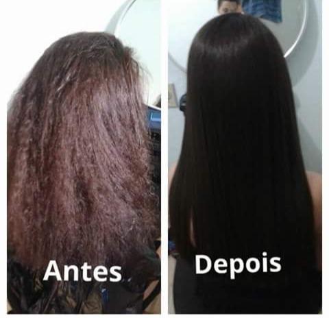 Antes e depois  Progressiva feita por mim  cabelo cabeleireiro(a)