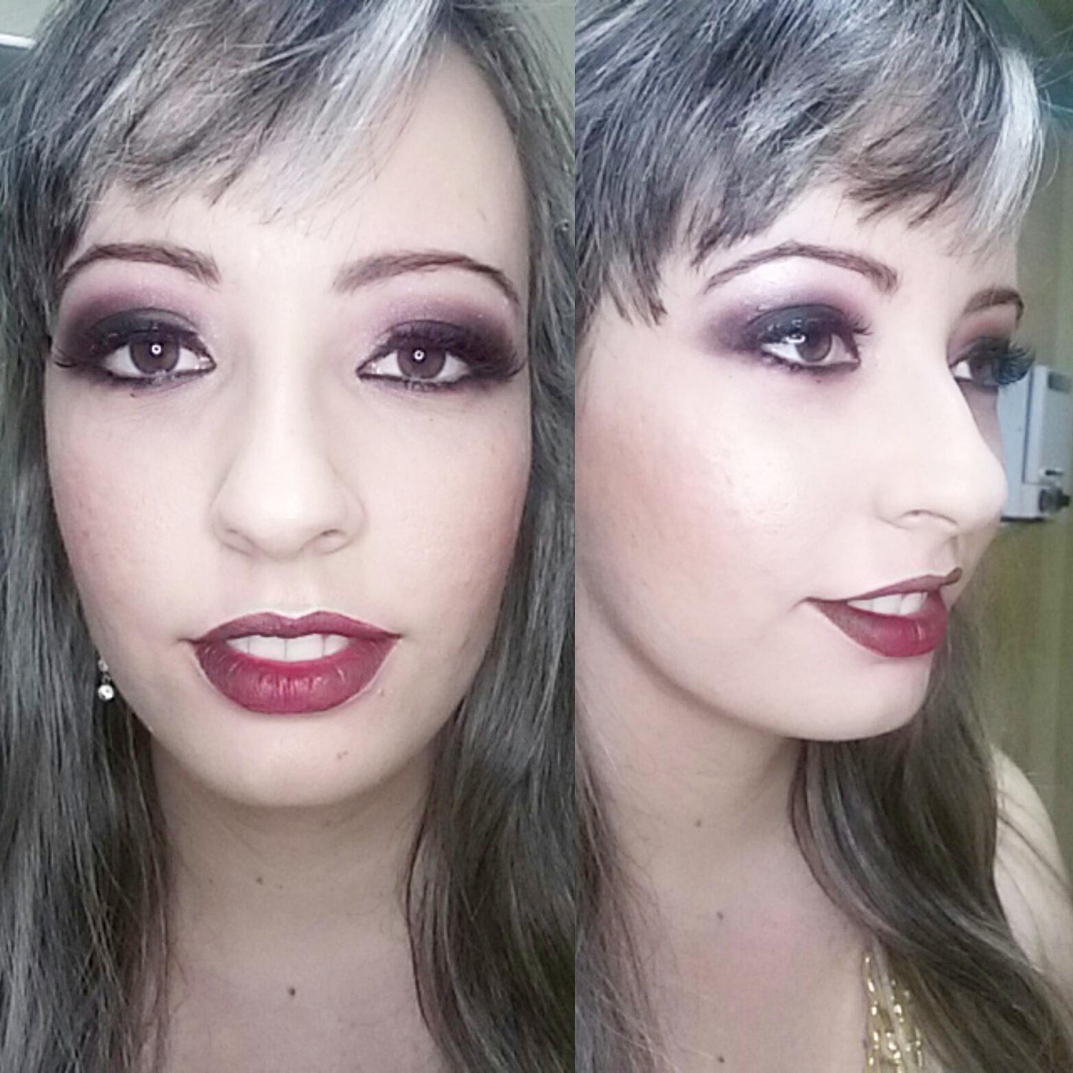 Uma maquiagem poderosa para a Kátia, madrinha de casamento que queria arrasar !! maquiagem maquiador(a)