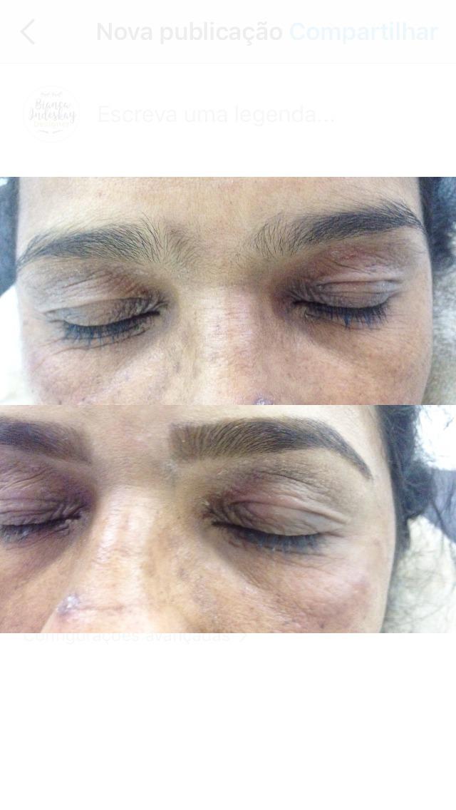 Design+ aplicação de henna  outros designer de sobrancelhas