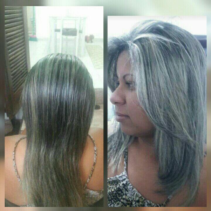 Mais um trabalho  loiro   antes e depois cabelo cabeleireiro(a)