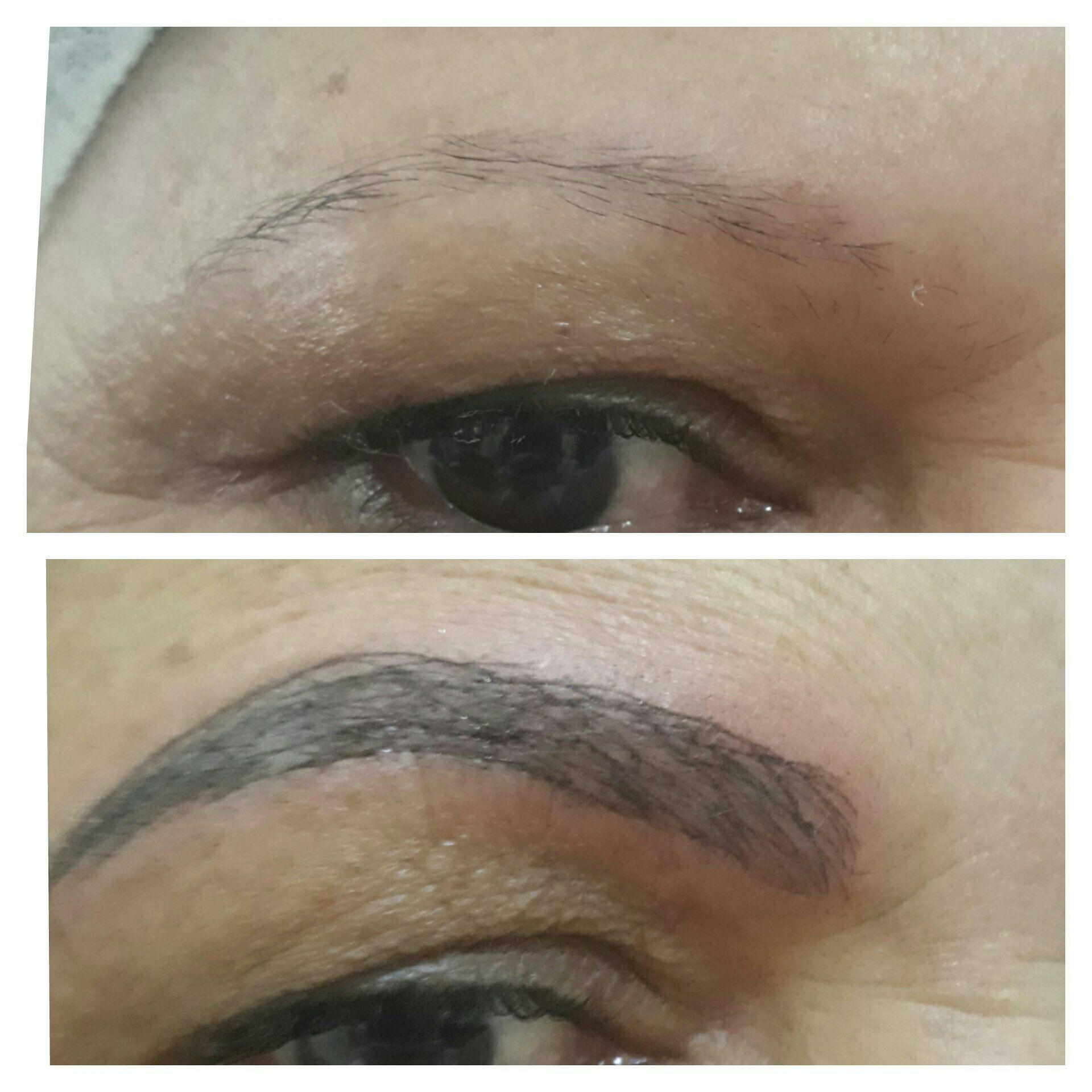 Antes e depois #Microblading esteticista designer de sobrancelhas micropigmentador(a)